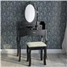 Sminkbord med 3 lådor spegel och pall Antikstil Fabriksny SS3