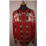 tröja, norgetröja,lusekofta,rödmönstrad ylle,oanvänd, st 52