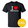 T-shirt Mercury Svart herr tshirt 4XL