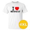 T-shirt Renault Vit herr tshirt 4XL