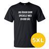 T-shirt Jag Älskar Djur Svart herr tshirt 5XL