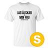 T-shirt Jag Älskar Min Fru Golf Vit herr tshirt S