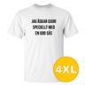 T-shirt Jag Älskar Djur Vit herr tshirt 4XL