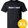 T-shirt Bäst I Test Svart herr tshirt XL