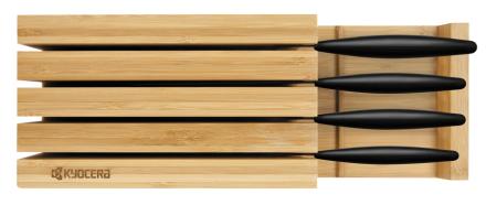Knivblock för 4 knivar, bambuträ - Kyocera