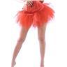 S/M Fri Frakt - Sexig Röd Tyll Underkjol Ballerina Goth Burlesk Korset