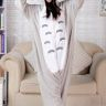 M - Kawai Totoro Pyjamas Jumpsuit Byxdressar Cosplay Djur Maskeradkläder
