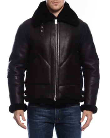 Ian Shearling jacket black