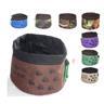 NY!Vikbar & portabel vattenskål/matskål vatten skål för hund Coffee