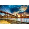Fototapet Manhattan Sunset - en fototapet som skapar skillnaden!