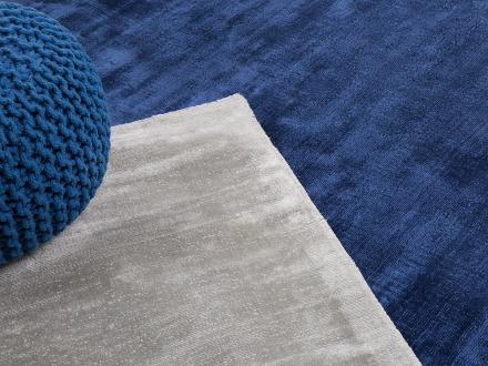 Matta - marinblå - viskos - kort lugg - 160x230 cm - vardagsrumsmatta - GESI