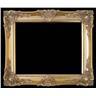 Trä ram Klassisk guld ram med traditionell dekoration Innermåtten, 90x120 cm