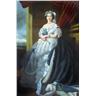 60x90cm, kvinna porträtt, oljemålning på duk