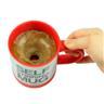 Automatisk självblandande kaffemugg i rostfritt stål /Röd