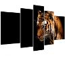 Kanvas tavla, tiger, ingår 5 delar, 180x100 cm