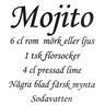 Väggdekor väggord väggtext Mojito