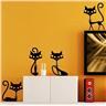 Väggdekoration 4st Katter Svarta