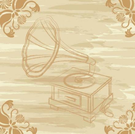 Vintage grammofon