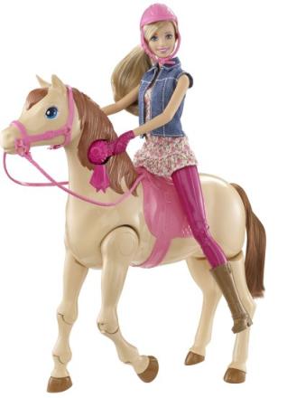 Barbie med självgĺende häst, Barbie