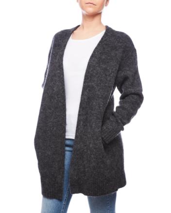 Raya sh mohair dark grey melange knit 19NC53