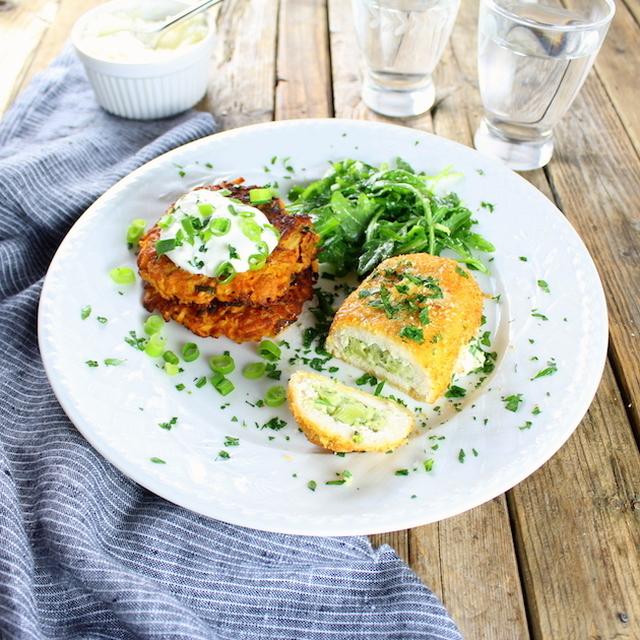 Parmesan Sweet Potato Cakes - Recipe from myTaste.com