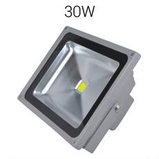 LED strålkastare 30W 230V 3300lumen IP67 Grå Bredstrålande, Robust bredstrålande strålkastare för utomhusbruk. Tillverkad i Sverige 3 års garanti