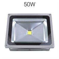LED strålkastare 50W 230V 5500lumen IP67 Grå Bredstrålande, Robust bredstrålande strålkastare för utomhusbruk. Monterad i Sverige 3 års garanti