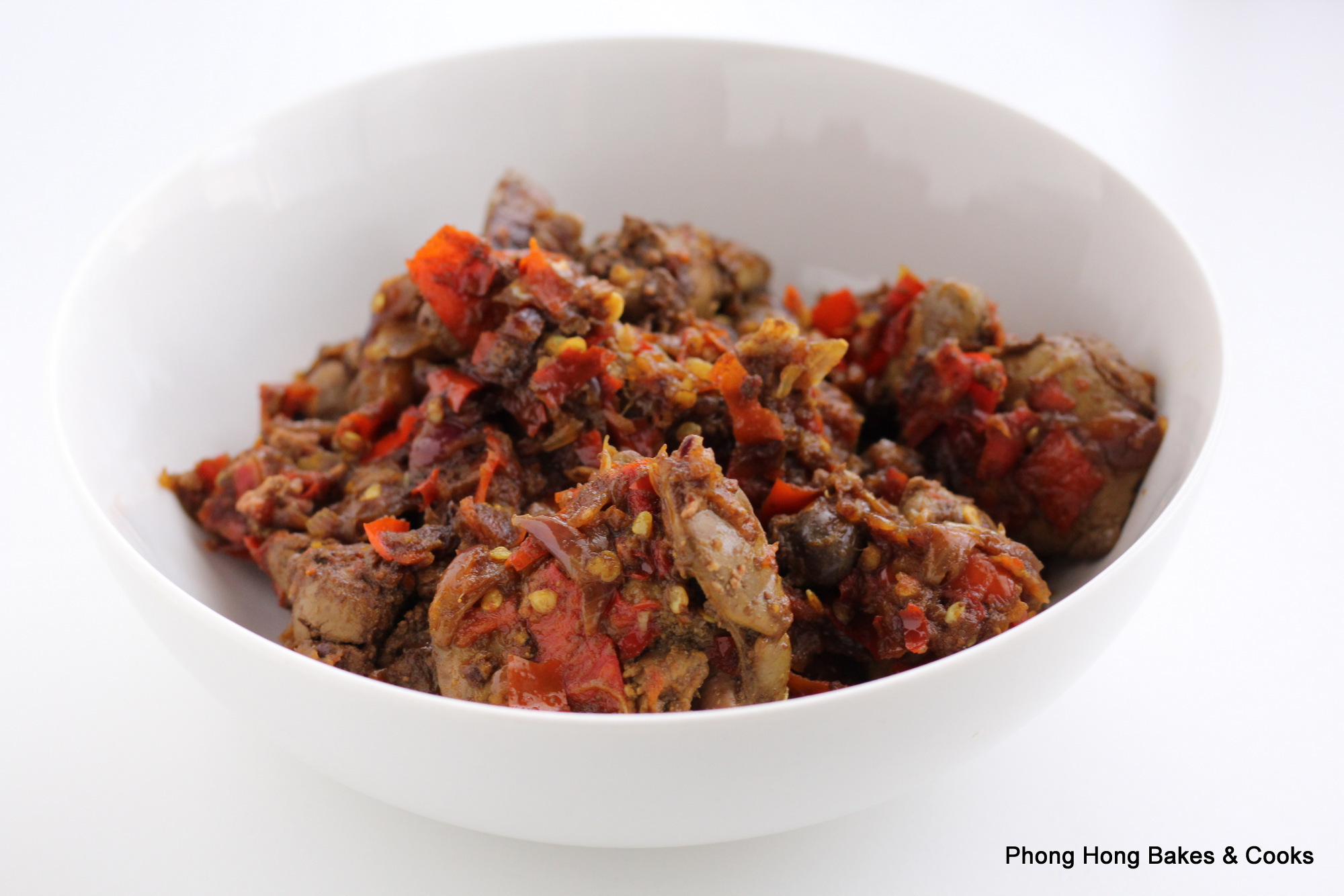 Fried Chicken Liver with Chilies (Hati Ayam Goreng Cili)