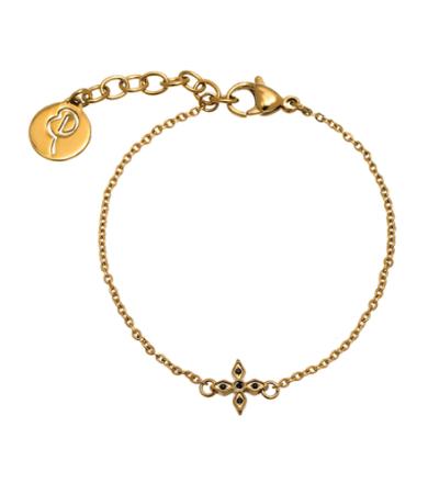 Windsor armband matt guld