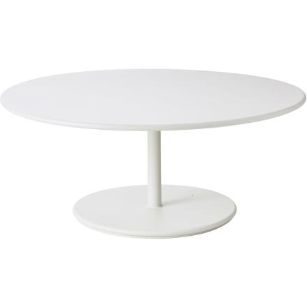 Go soffbord med aluminiumskiva vit Ø110 cm