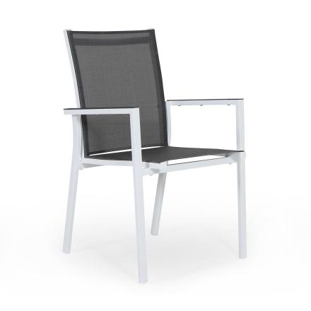 Avanti stapelstol vit/grå
