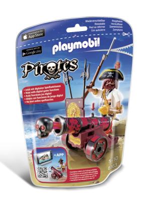 Sjörövare med röd kanon, Playmobil Pirates