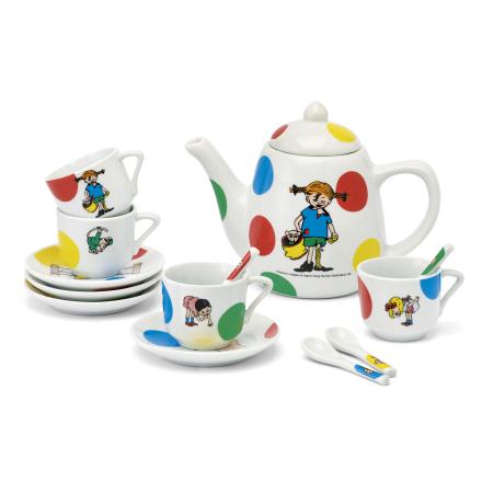 Pippi Kaffeservis i porslin, 14 delar