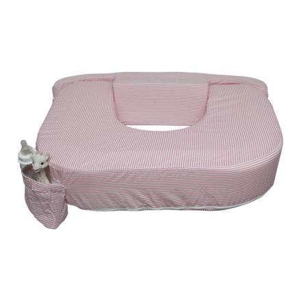 Amningskudde Tvilling, Pink white stripe, My Breast Friend