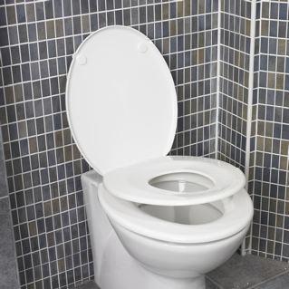 Family Seat Toalettring Plast, Vit