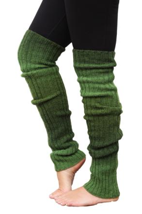 Benvärmare ull grön