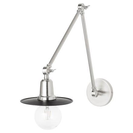 Lene Bjerre Alexandra Vägglampa Antik Silver/Svar
