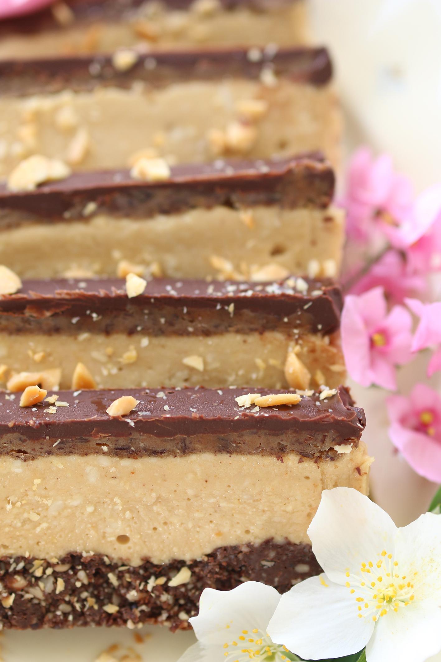 Nyttig frusen snickerskaka, (rawfood, glutenfri)
