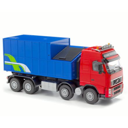 Volvo FH med Avfallscontainer Röd/Blĺ, EMEK