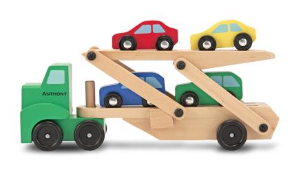 Biltransport med 4 bilar, Melissa & Doug