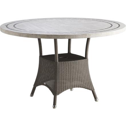 Lansing matbord taupe Ø 120 cm - Travertin