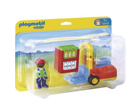1.2.3 Gaffeltruck, Playmobil
