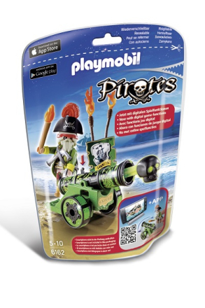 Piratkapten med grön kanon, Playmobil Pirates