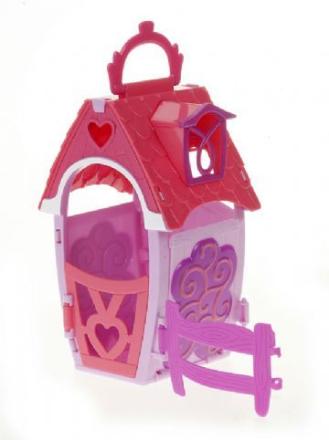 Stall, Wishing Well Cottage (rosa-lila), Zhu Zhu Pets