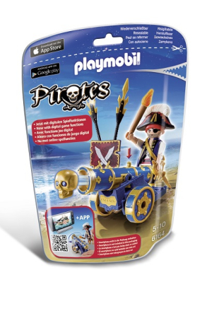 Officer med blĺ kanon, Playmobil Pirates