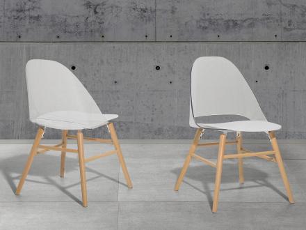 Stol transparent-vit - matsalsstol - vardagsrumsstol - MILFORD