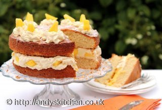 Mango Cream Cake Recipe by Shelina Permalloo