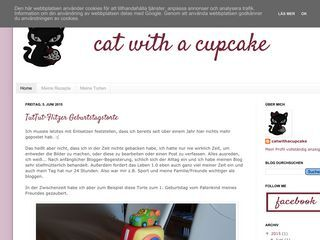 Cat with a cupcake
