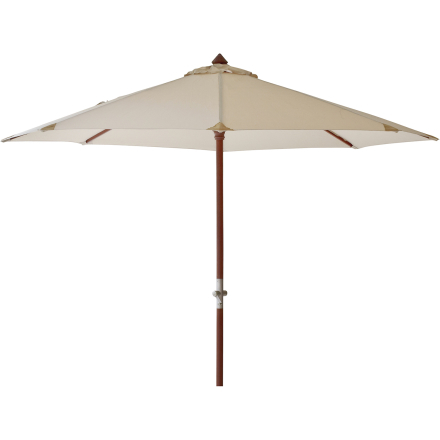Aberdeen parasoll Ø 300 cm vit