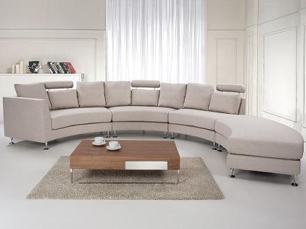 Rund divansoffa beige - soffa - tygsoffa - ROTUNDE